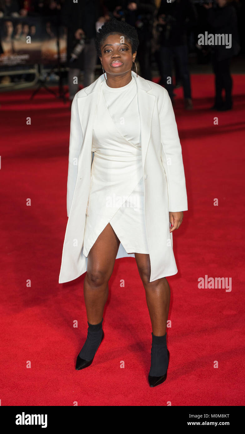 London, UK. 22nd Jan, 2018. Clara Amfo attends the 'Maze Runner: The Death Cure' film premiere, London, - Stock Image