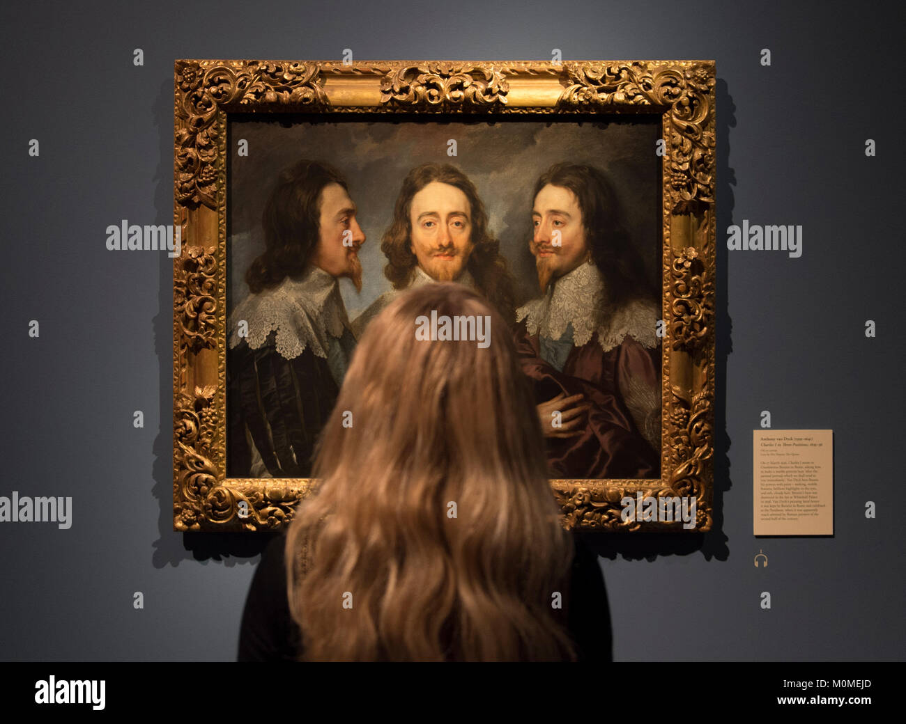 RA, London, UK. 23rd Jan, 2018. Charles 1: King and Collector reunites the greatest masterpieces of a collection sold off and scattered across Europe after the execution of Charles 1 in 1649. The exhibition runs from 27 January - 15 April 2018. Credit: Malcolm Park/Alamy Live News. Stock Photo