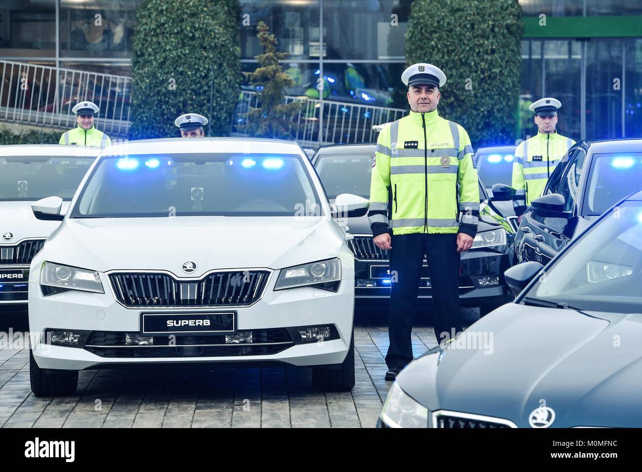 Auto Sale Czech Republic: Skoda Police Car Stock Photos & Skoda Police Car Stock