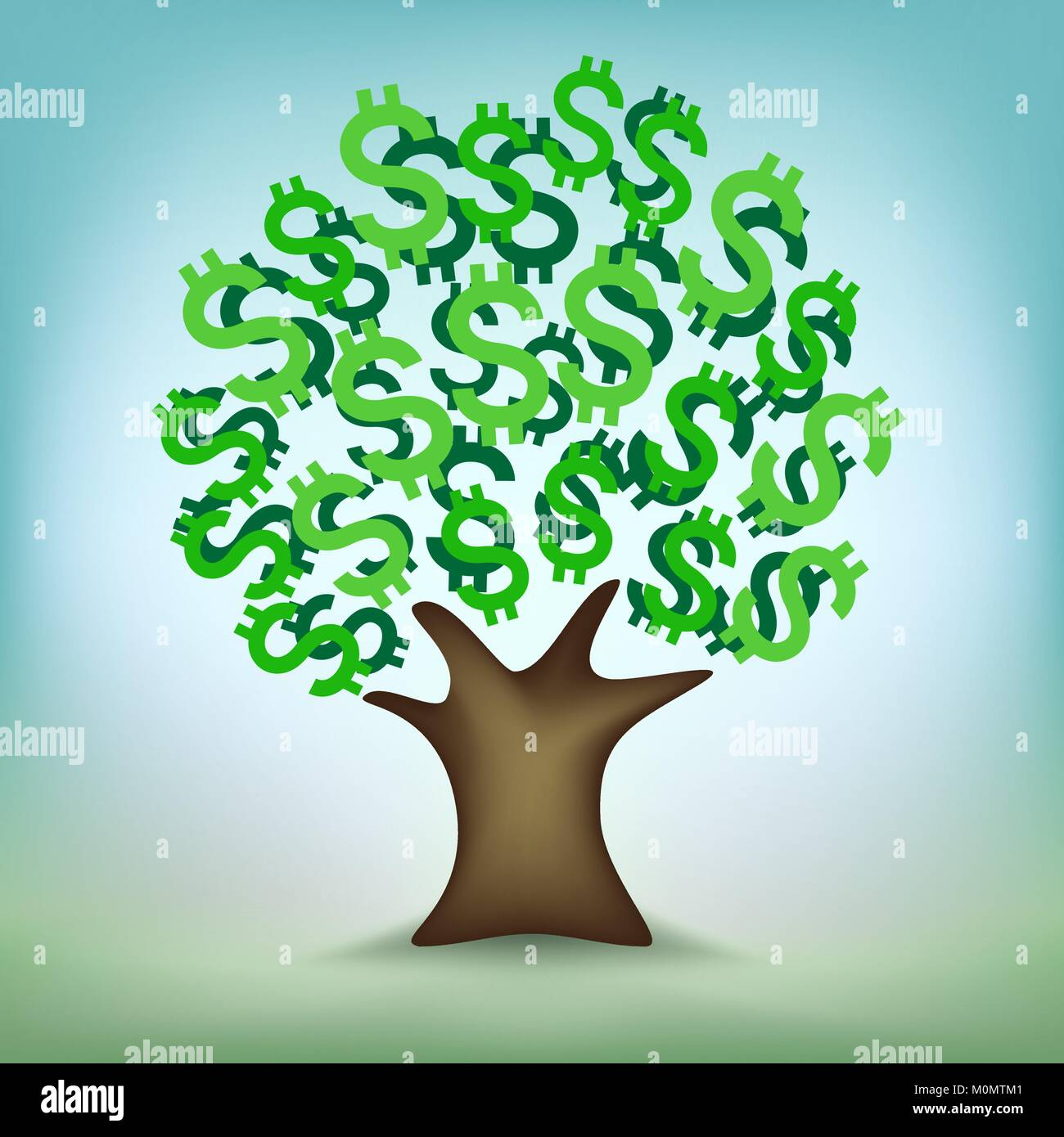 Finance Tree: Plant Growth Stock Vector Images