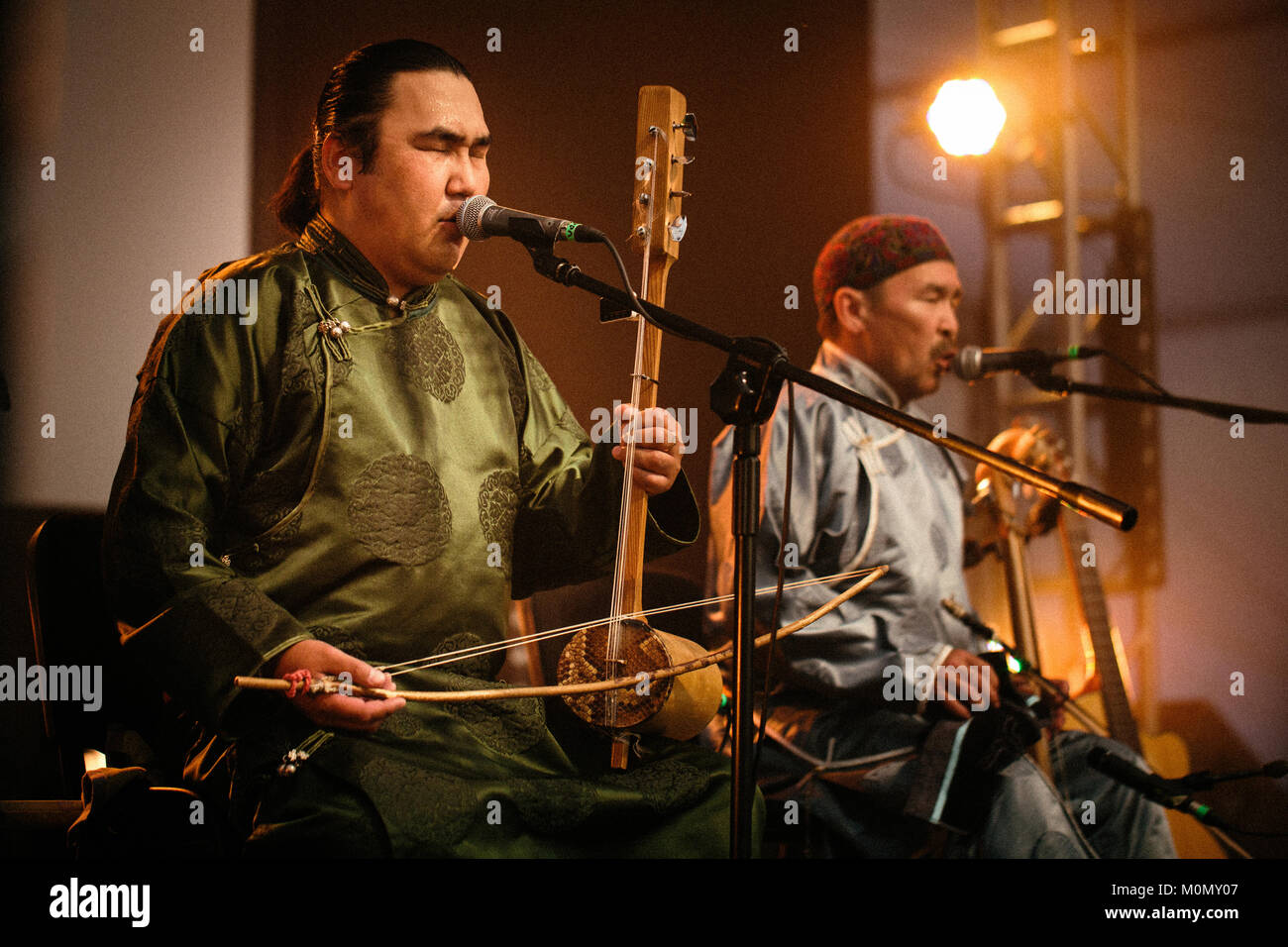 The Russian-Mongolian folk and throat singing band Huun-Huur
