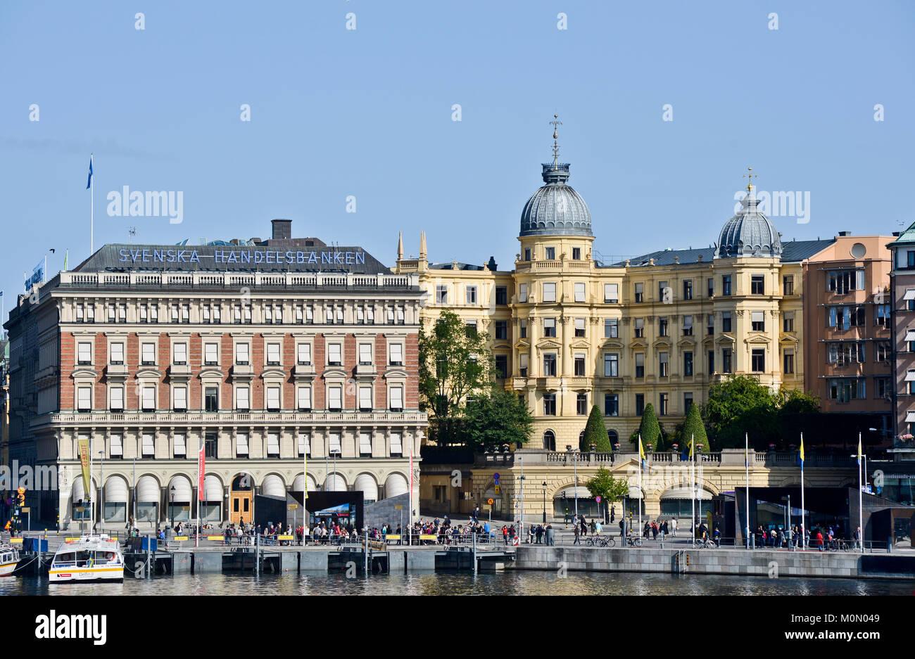 Svenska Handelsbanken, Stockholm, Sweden - Stock Image