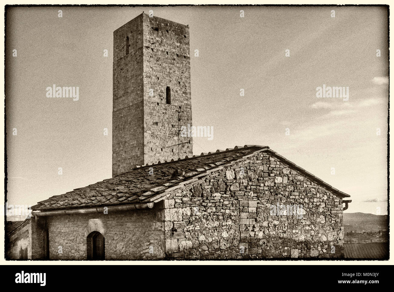 Once upon a time in Tuscany, San Gimignano, Siena, Italy - Stock Image