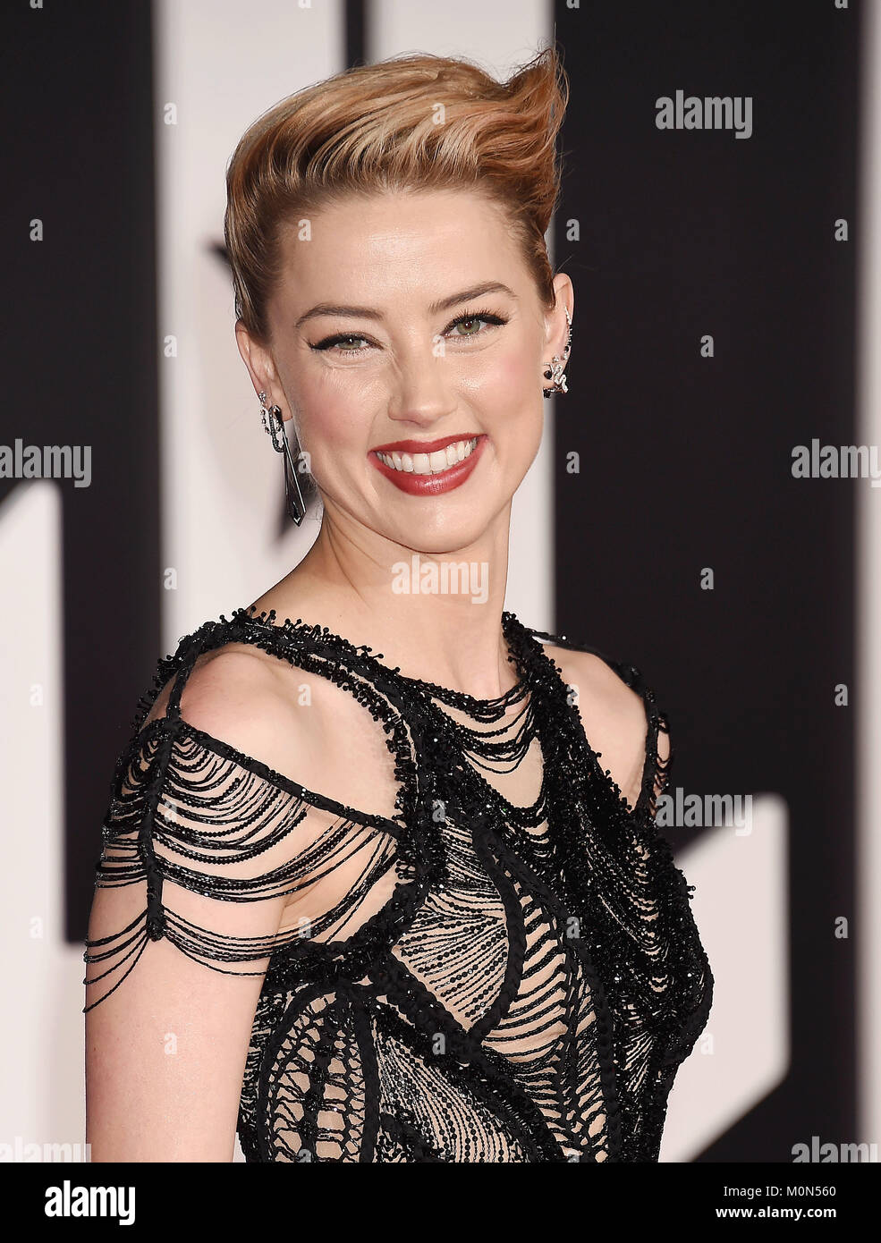 AMBER HEARD US film actress  arrives at the Premiere Of Warner Bros. Pictures' 'Justice League' at the - Stock Image