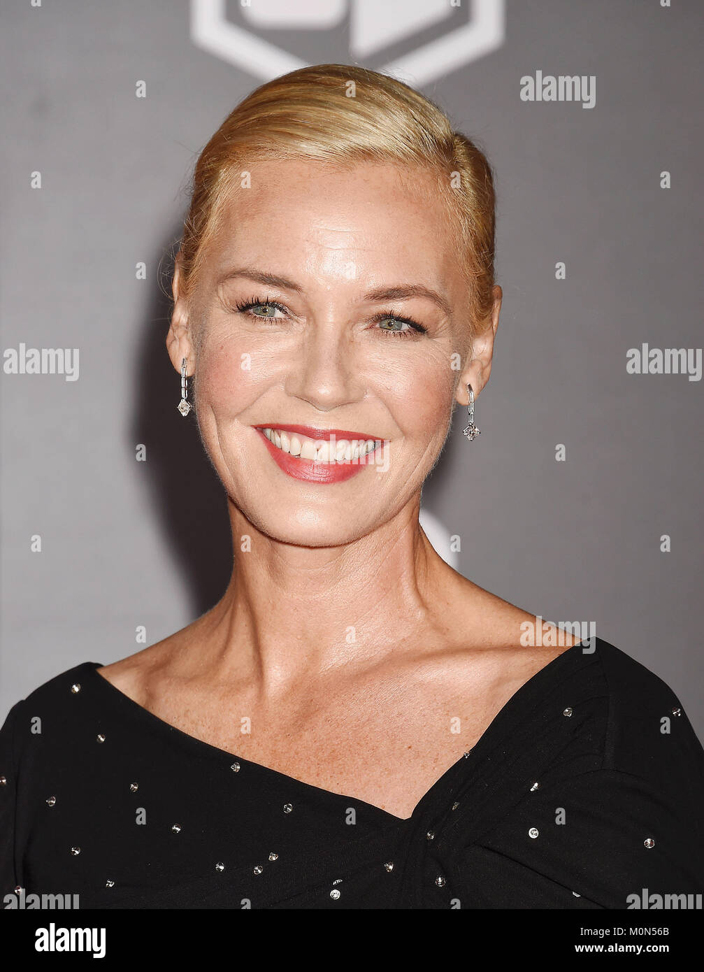 CONNIE NIELSON  US film actress arrives at the Premiere Of Warner Bros. Pictures' 'Justice League' at - Stock Image