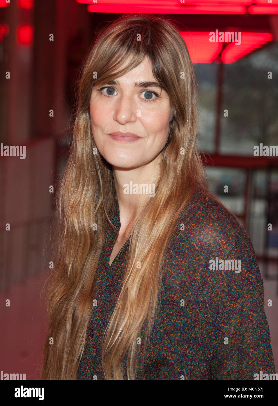 LISA LANGSETH 2018 Swedish filmdirector has mede her first feature in English Euphoria with Alicia Vikander ,Eva - Stock Image