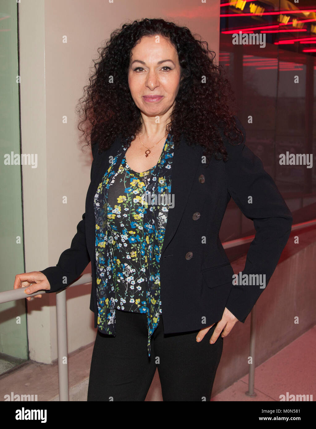 NAHID PERSSON SARVESTANI Swedish Iranian documentary film director 2018,her most famous documetary  film are the Stock Photo
