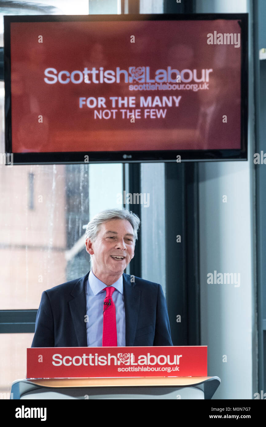 Scottish Labour Party Leader Richard Leonard delivers  major speech at Abertay University,19 Jan 2018, in Dundee - Stock Image