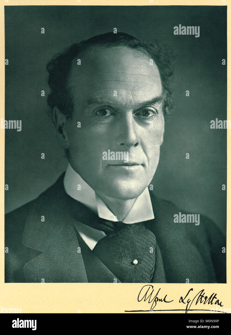 Alfred Lyttelton QC, 1857–1913, British politician and sportsman - Stock Image