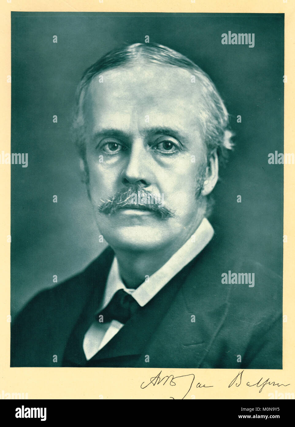 Arthur Balfour, Prime Minister of the United Kingdom from 1902 to 1905 - Stock Image