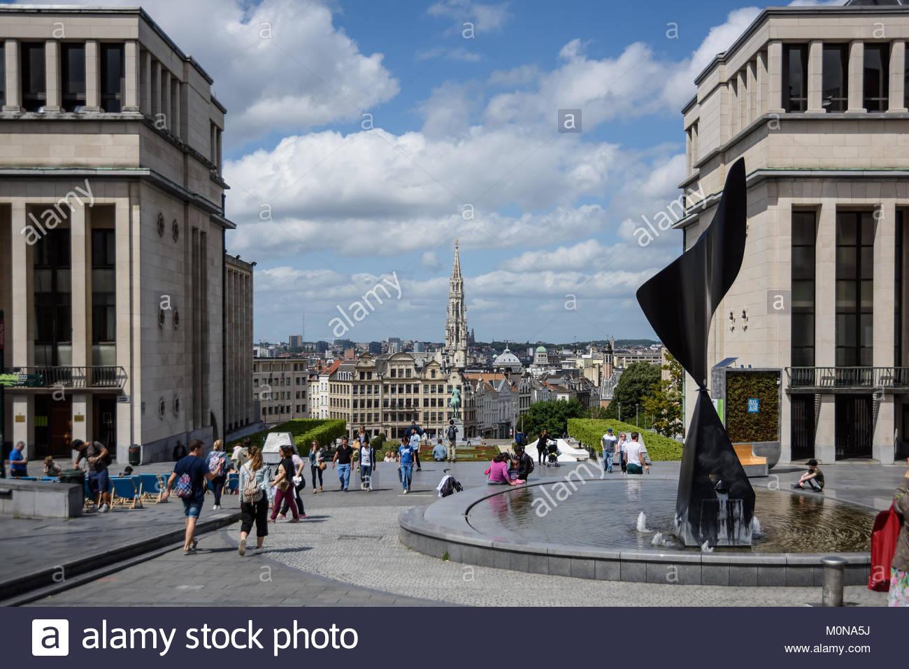 Brüssel, Mont des Arts, Whirling Ear, Brussels, Whirling Ear (Bruxelles, Brussel), Coudenberg, L oreille Tourbillonante - Stock Image