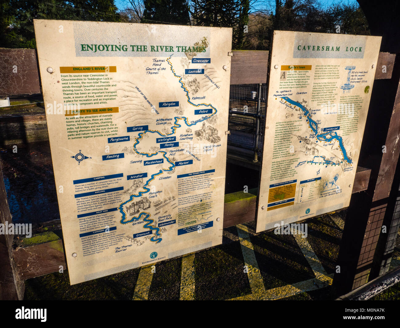 Caversham Lock, River Thames, Caversham, Reading, Berkshire, England. - Stock Image