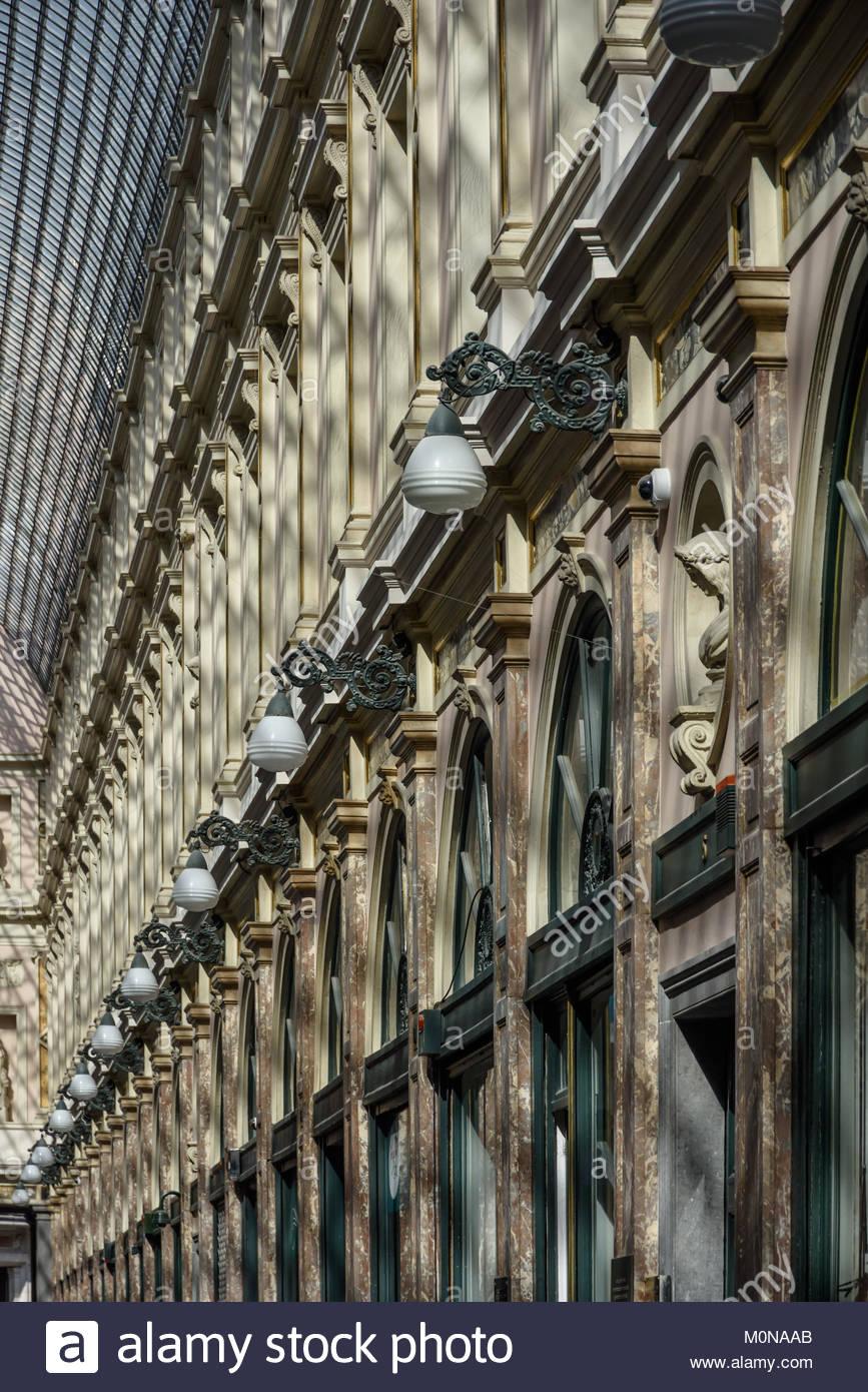 Brüssel, Les Galeries Royales Saint-Hubert, Koninklijke Sint-Hubertusgalerijen, Brussels, Koninklijke Sint - Stock Image