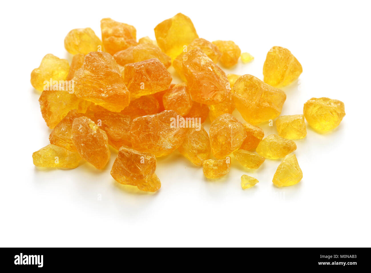 resin from copal tree, incense ingredient - Stock Image
