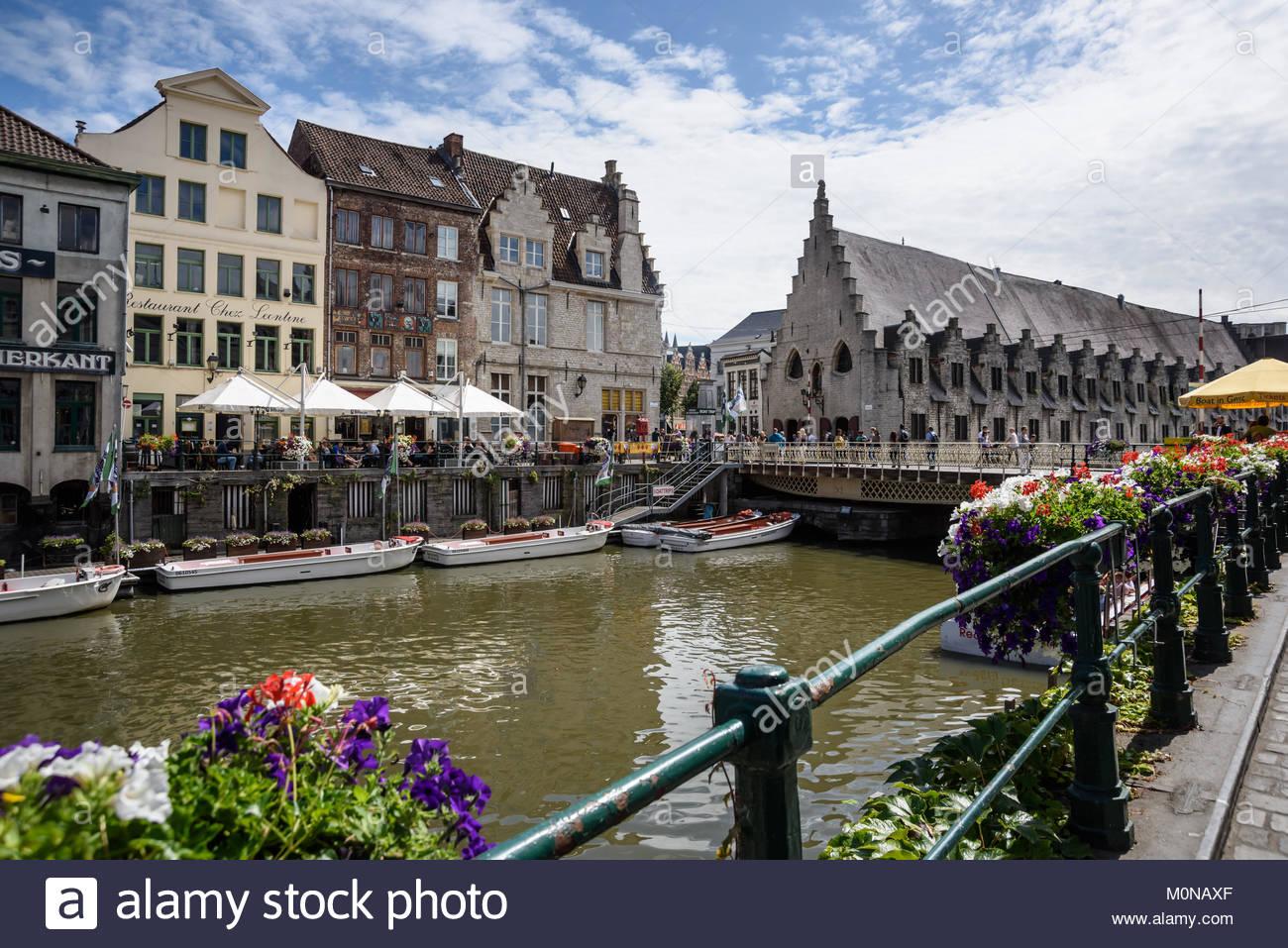 Flandern, Ostflandern, Gent, Blick auf Groot Vleeshuis - Stock Image