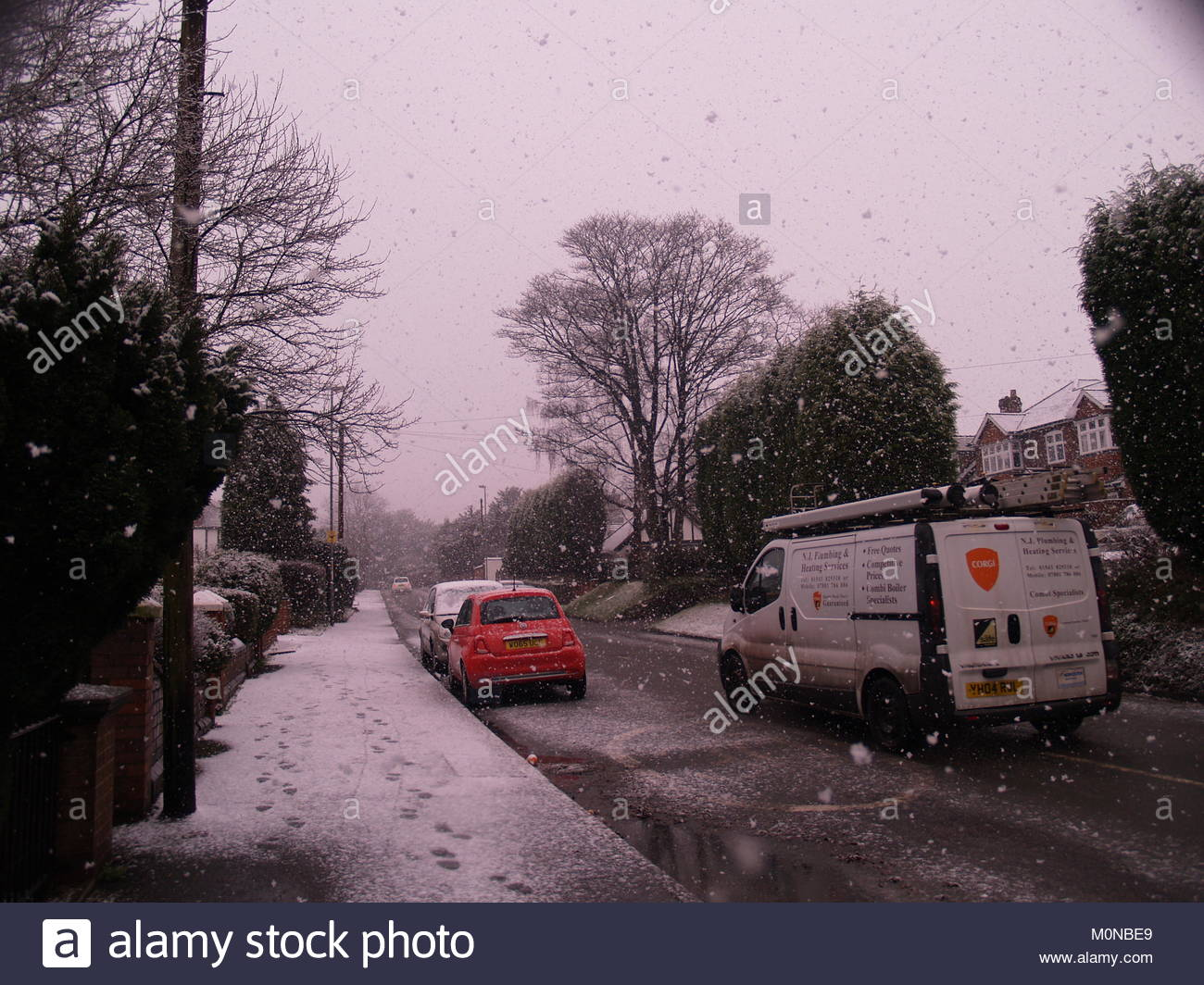 The Walsall Wood Road In Aldridge, West Midlands (England) - Stock Image