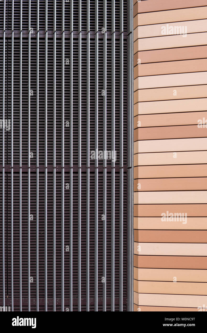 Symmetrical house facade auf of metal and plastic Stock Photo: 172574356 - Alamy & Symmetrical house facade auf of metal and plastic Stock Photo ...