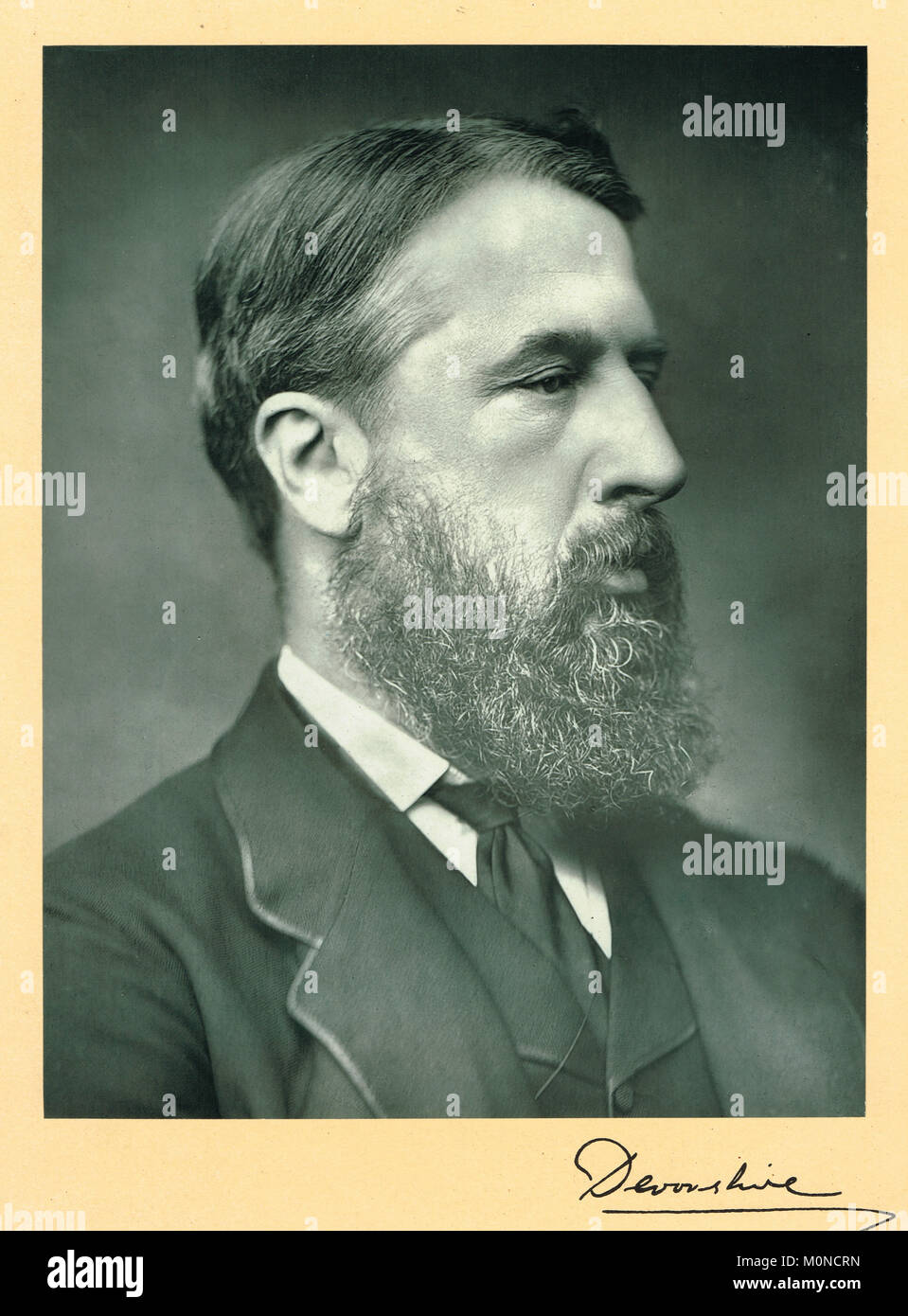 Spencer Cavendish, 8th Duke of Devonshire.  Leader of three political parties, Leader of the Liberal Party (1875–1880), - Stock Image