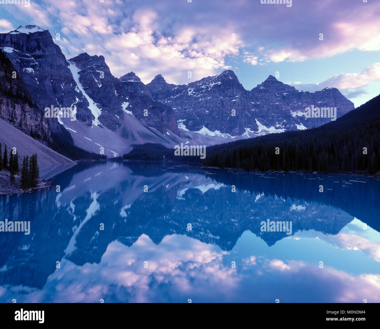 Moraine Lake, Canadian Rockies, Banff National Park, Alberta, Canada - Stock Image