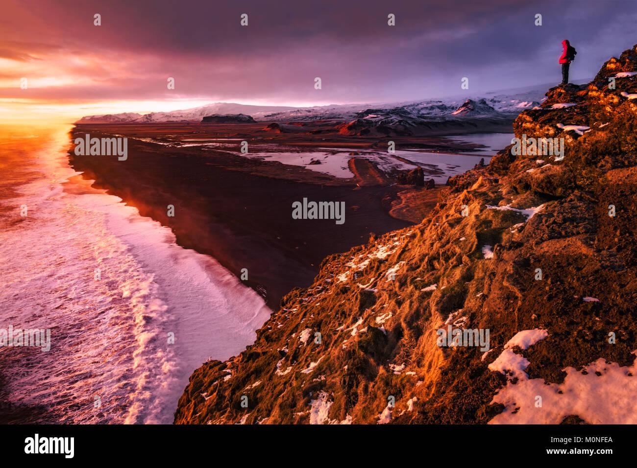 Black Beaches of South Iceland Stock Photo
