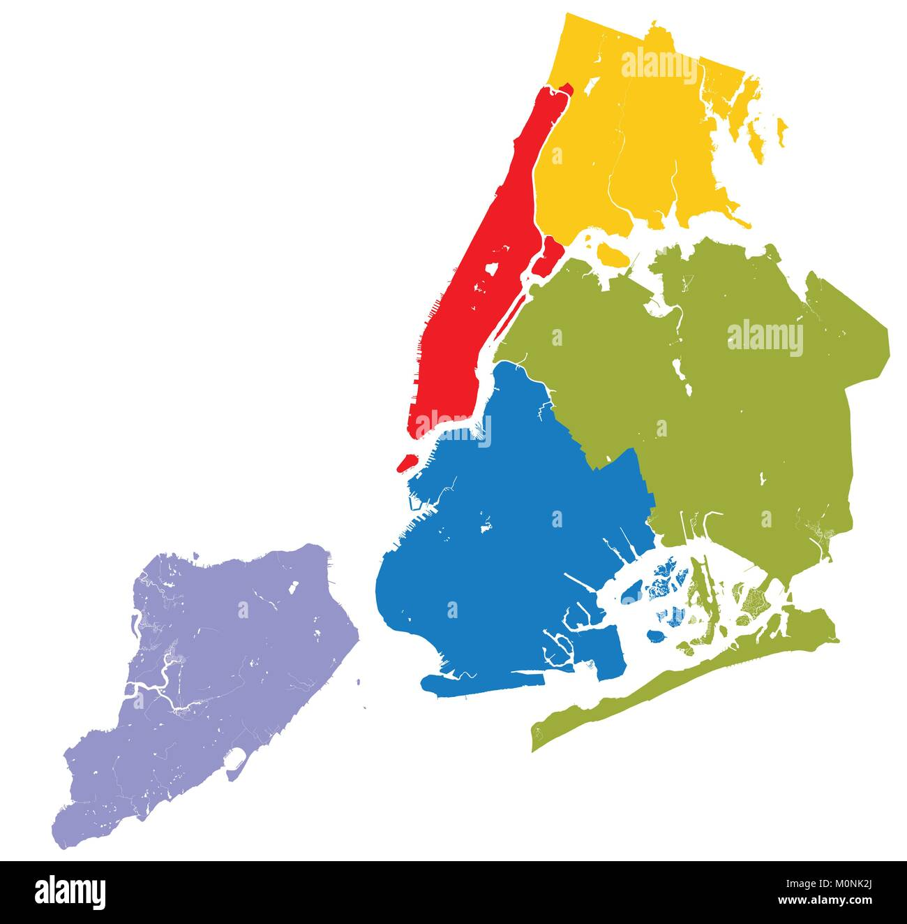 High resolution outline map of new york city with nyc boroughs each high resolution outline map of new york city with nyc boroughs each boroughs placed on a separate layer gumiabroncs Choice Image