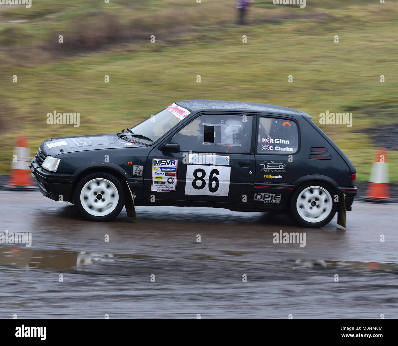 chris clarke robert ginn peugeot 205 mgj rally stages chelmsford motor club