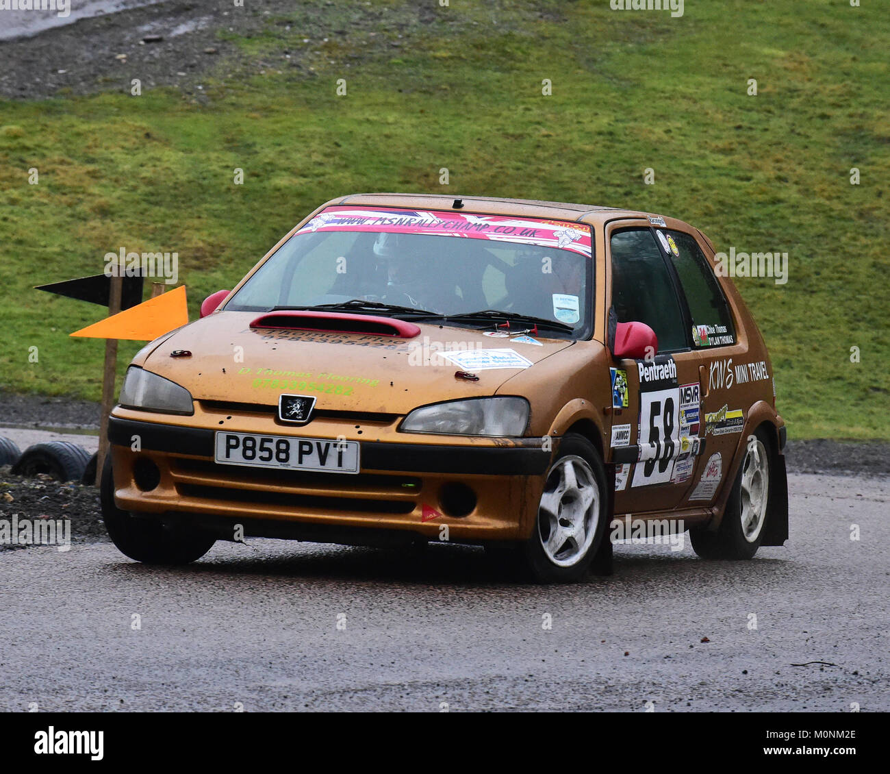 Dylan Thomas Chloe Thomas Peugeot 106 Gti Mgj Rally Stages Stock Photo Alamy