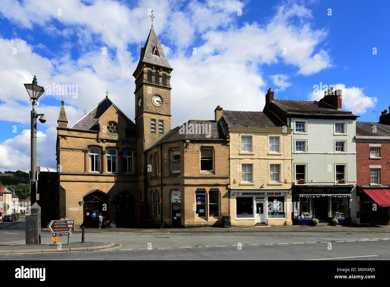 Summer, Wirksworth Town centre, Peak District National Park; Derbyshire; England; UK - Stock Image