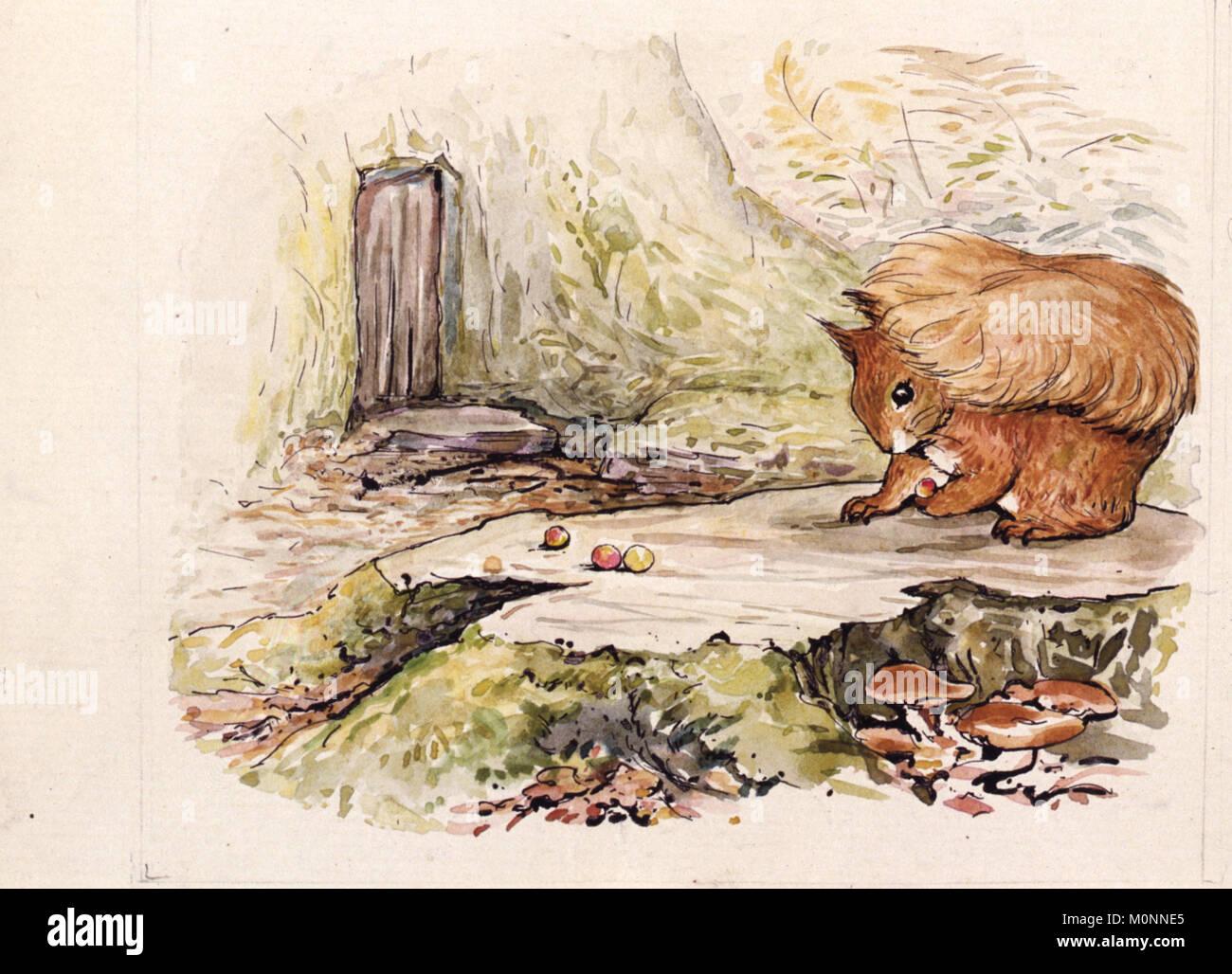 Vintage Beatrix Potter illustration - Stock Image