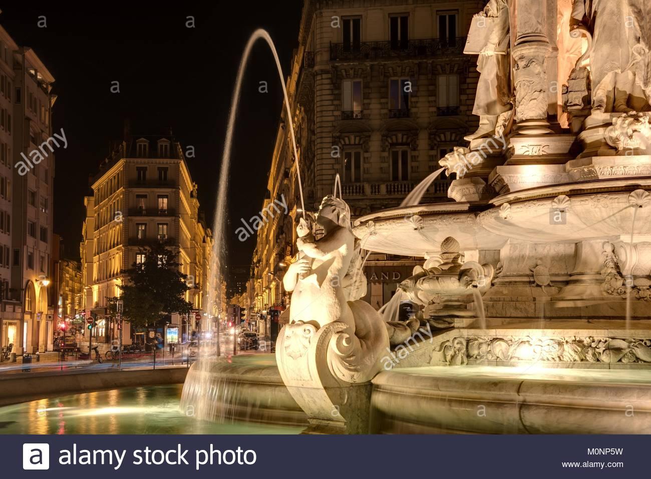 Lyon, Place des Jacobins - Stock Image