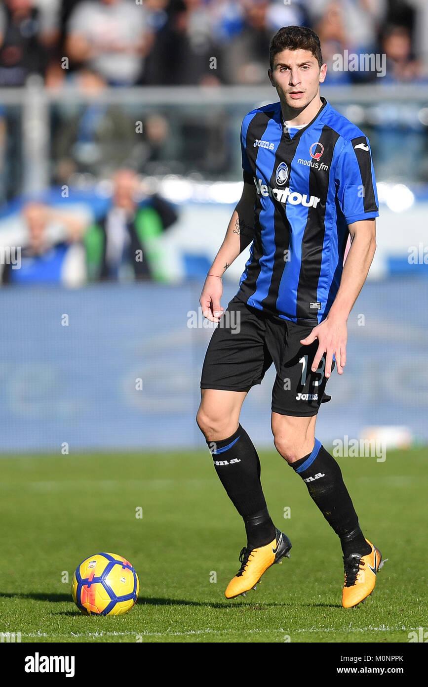 Mattia Caldara Atalanta  Bergamo 21-01-2018 Stadio Atleti Azzurri d'Italia Football Calcio Serie A 2017/2018 - Stock Image
