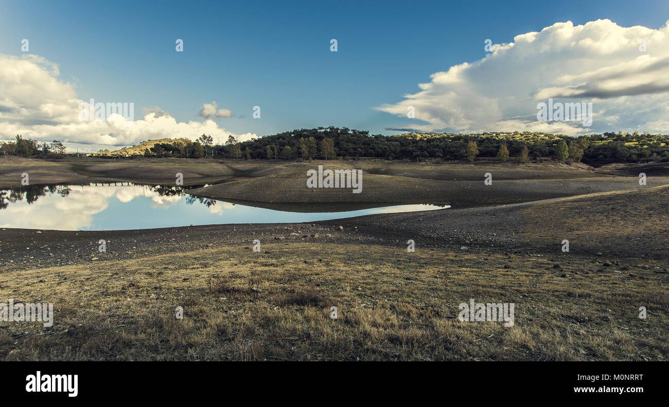 Reflections on the lake - Stock Image
