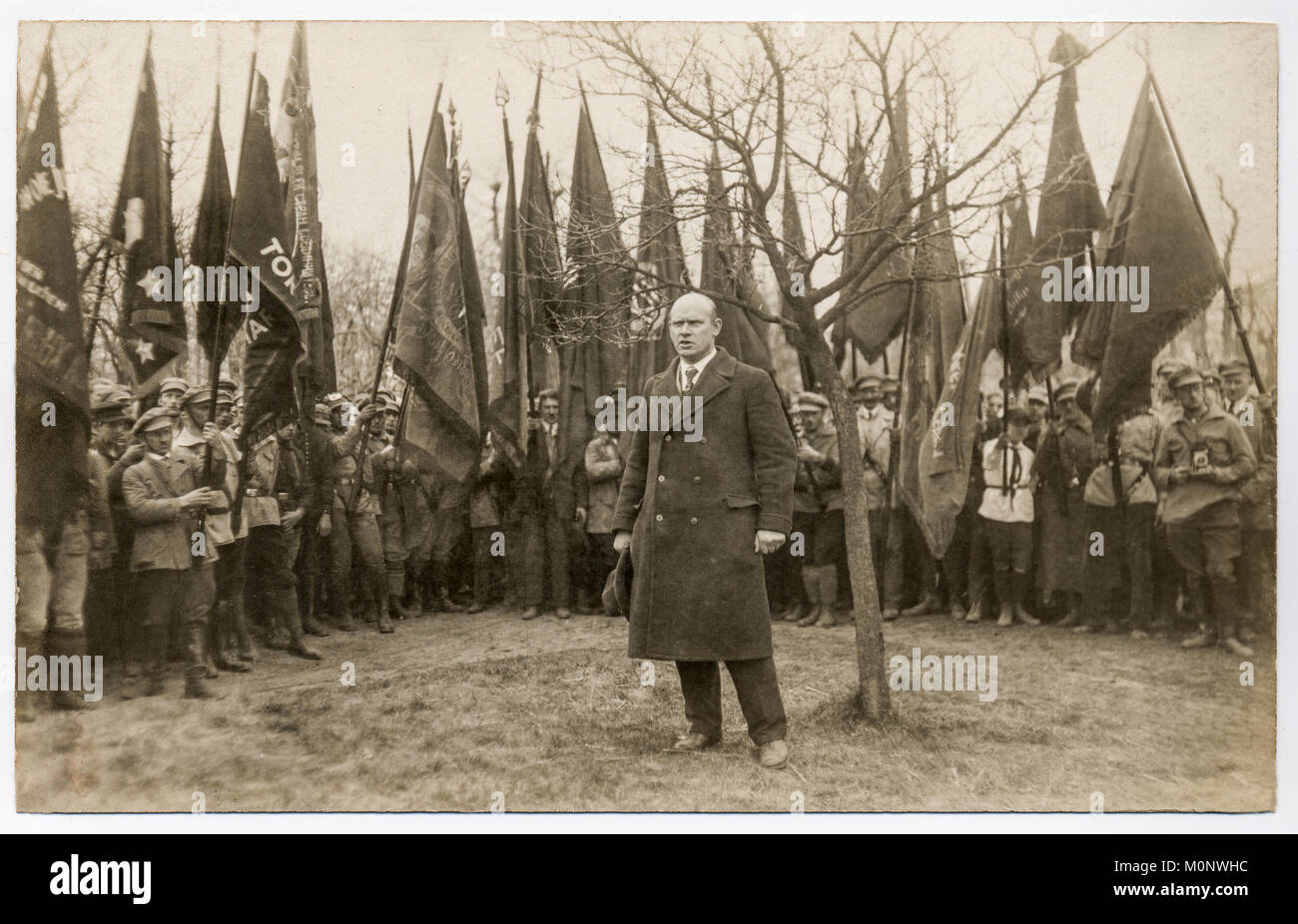 Ernst Thälmann,leader of the German Communist Party,KPD,speech in front of party members,historical photography - Stock Image