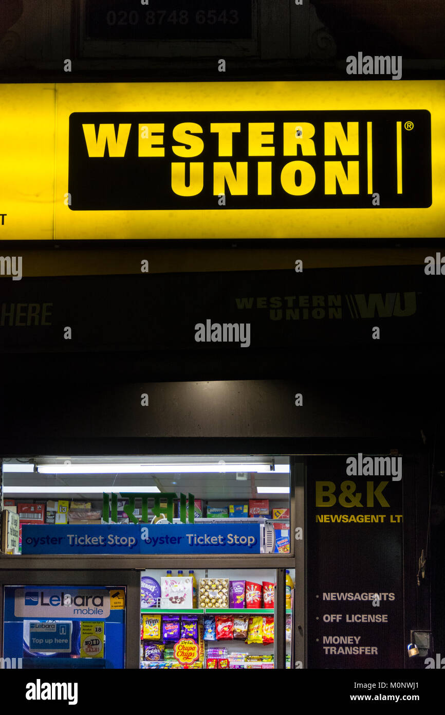 Western Union Money Transfer and paypoint signage and logo