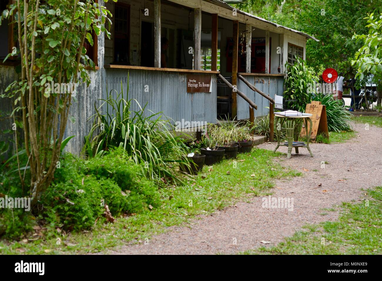 Herveys Range Heritage Tea Rooms, Thornton Gap Road, Hervey Range, Queensland, Australia - Stock Image