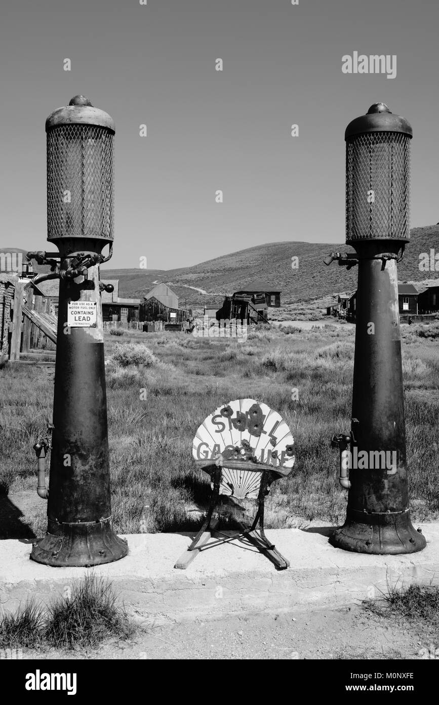 Image from Bodie State Historic Park near Mono Lake and Bridgeport, California. - Stock Image