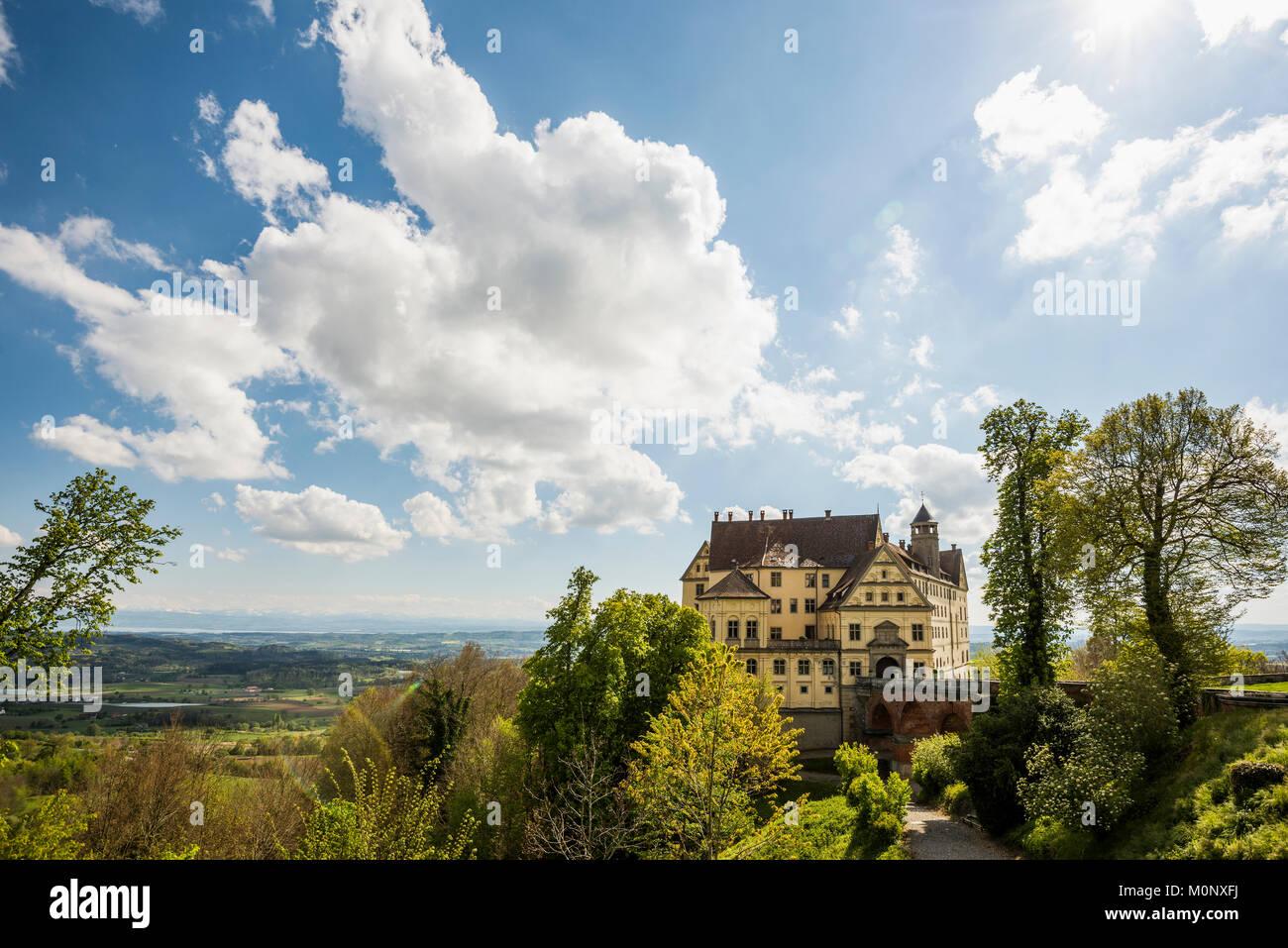 Heiligenberg Castle,Renaissance castle,Heiligenberg,Lake Constance District,Linzgau,Lake Constance,Baden-Württemberg - Stock Image