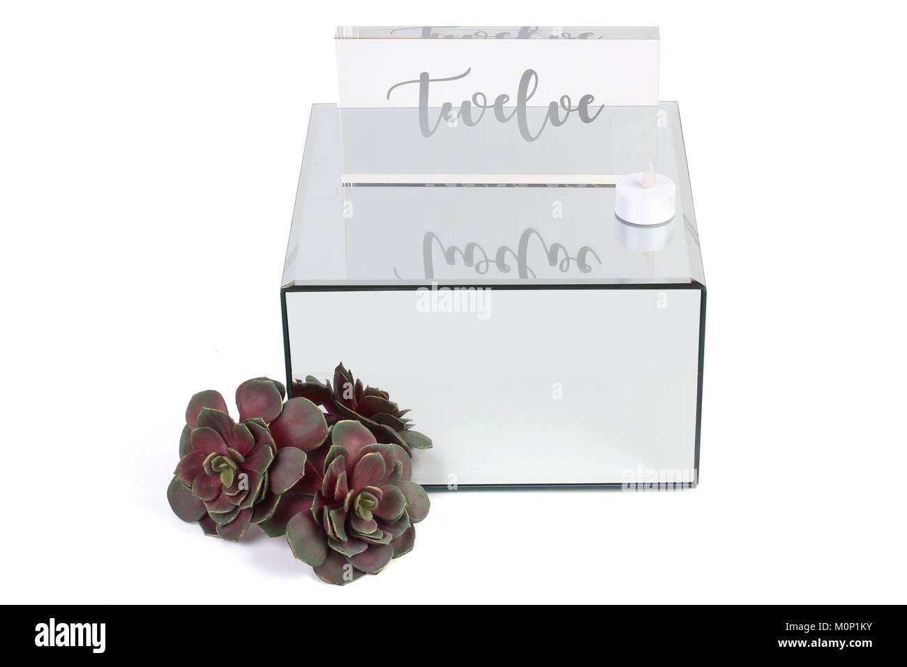 Wedding Card Box on Plain Background - Stock Image