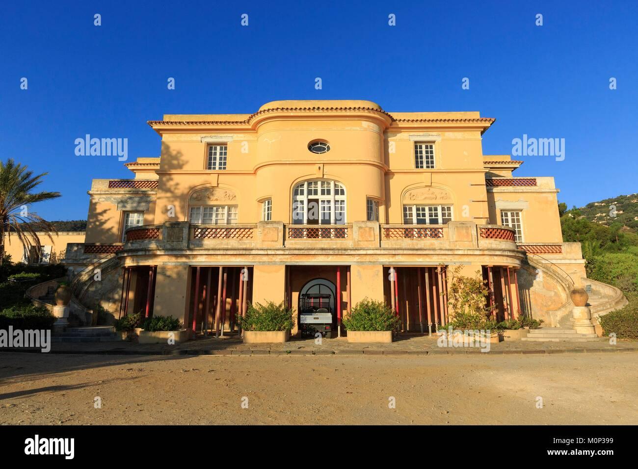 France,Var,Rayol Canadel sur Mer,Domaine du Rayol,Mediterranean garden,property of the Conservatoire du Littoral - Stock Image