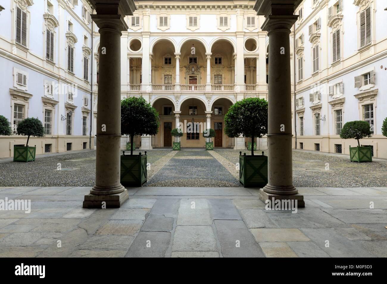 Italy,Piedmont,Turin Province,Turin,Palazzo Saluzzo Paesana - Stock Image