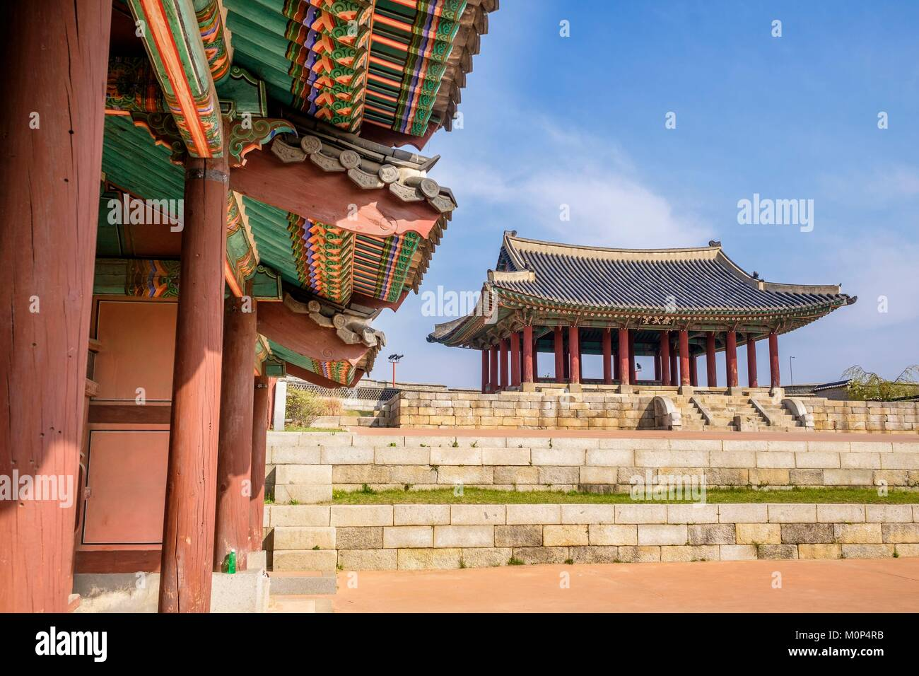 South Korea,Gyeonggi province,Suwon,Hwaseong fortress listed as World Heritage by UNESCO,built between 1794 and - Stock Image