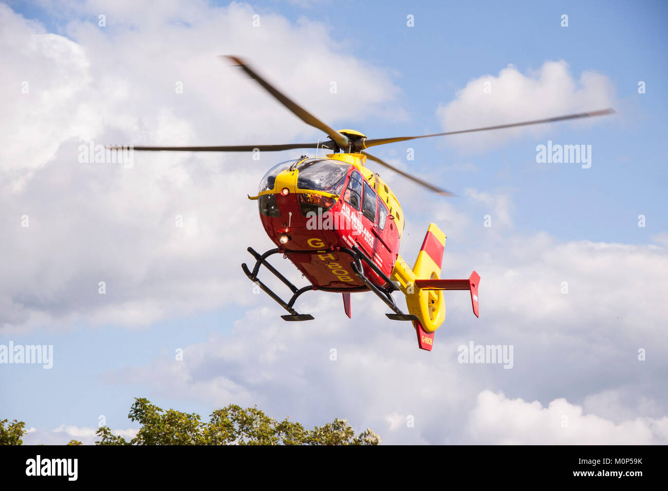 Berks,Oxon and Bucks air ambulance helicopter  in action - Stock Image