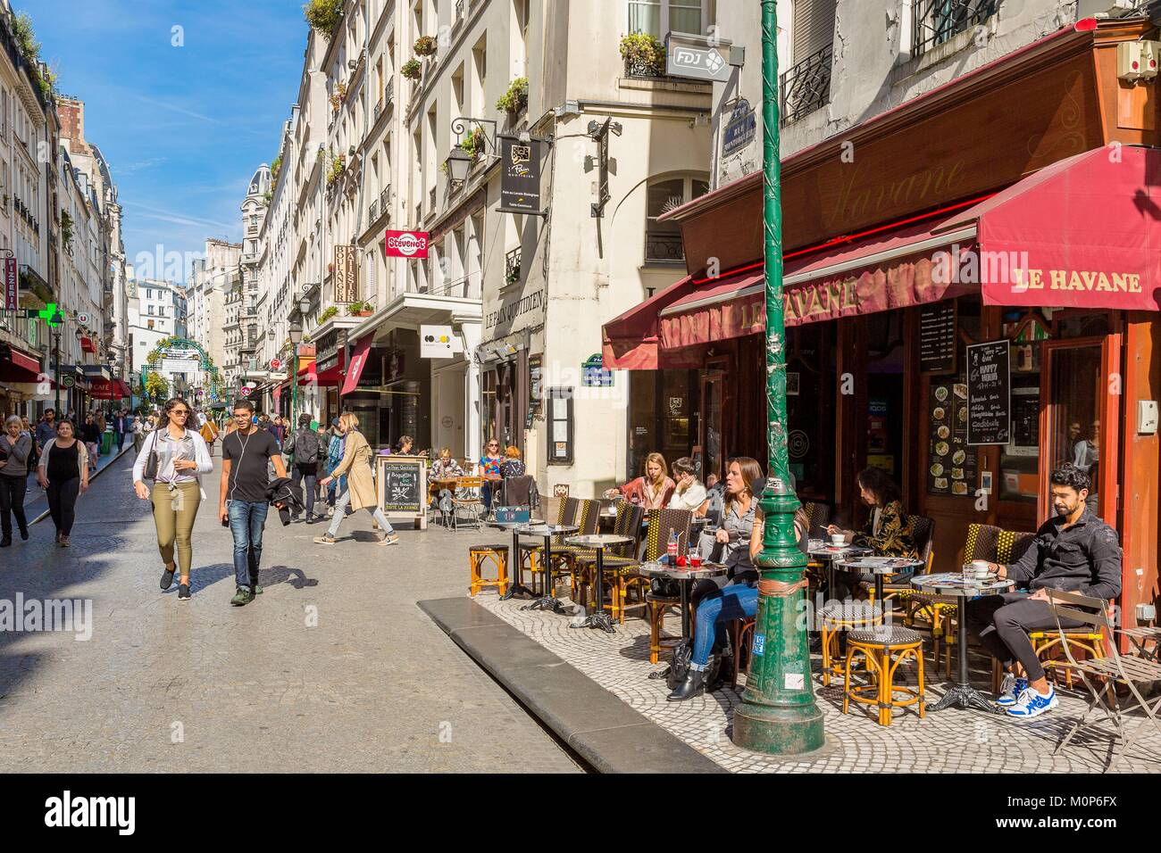 France,Paris,Rue de Montorgueil - Stock Image