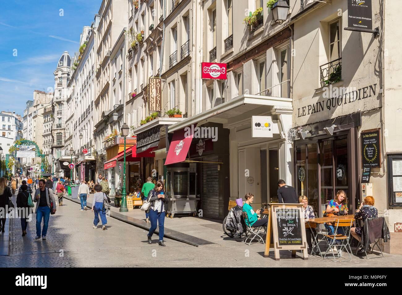 France,Paris,Rue de Montorgueil - Stock Image