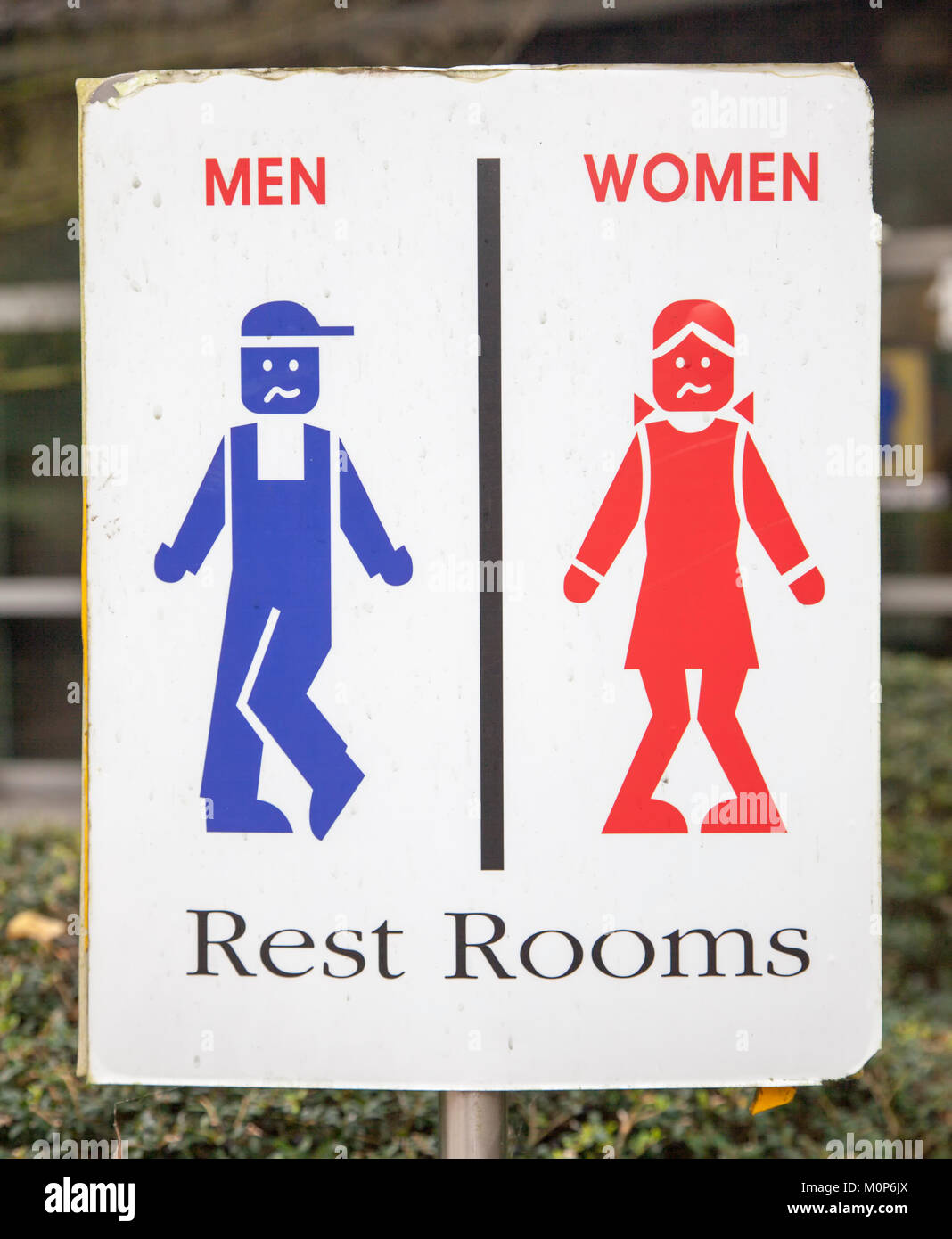 sign for restrooms in South Korea - Stock Image