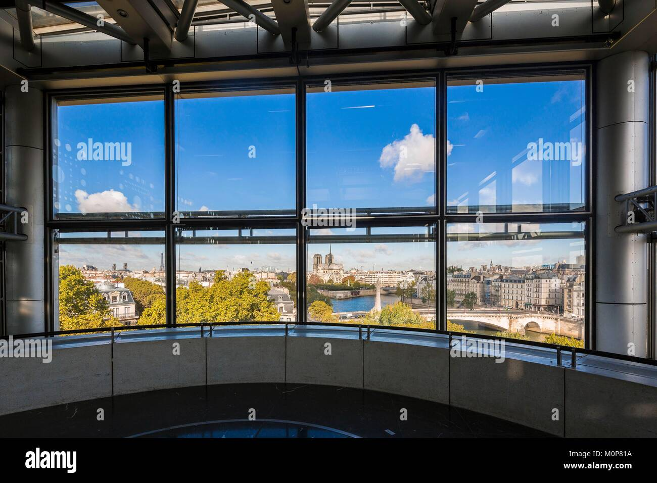 France,Paris,Institut du Monde Arabe (IMA),designed by the architects Jean Nouvel and Architecture-Studio,conference - Stock Image
