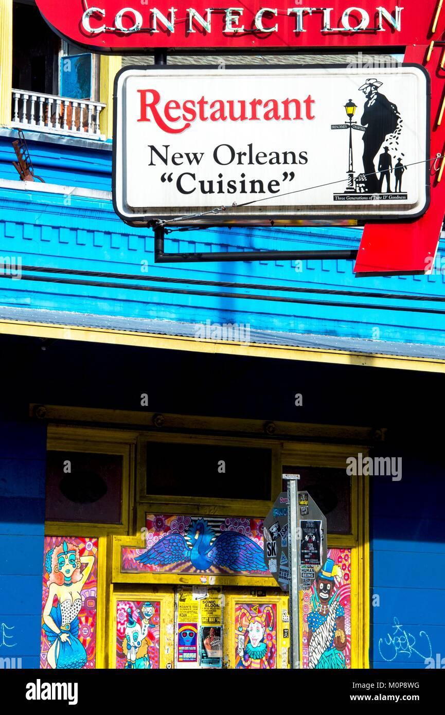 Restaurant Sign New Orleans Stock Photos & Restaurant Sign New ...