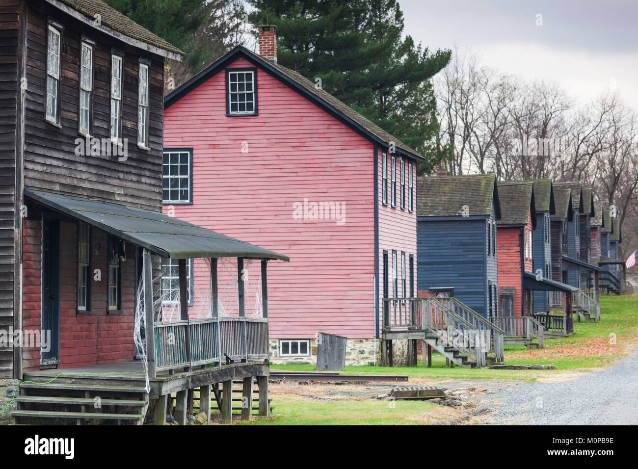 United States,Pennsylvania,Eckley,Eckley Miners Village,fomer mining village Stock Photo