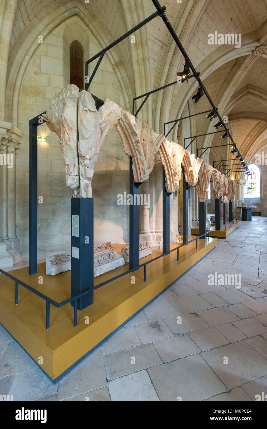 France,Cher,Bourges,Saint Etienne cathedral listed as World Heritage by UNESCO,parts of the jube in the crypt Stock Photo