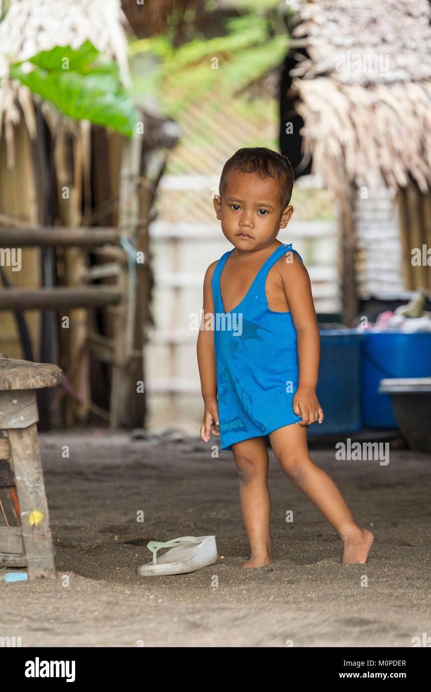 Philippines,Luzon,Albay Province,Tiwi,child Stock Photo